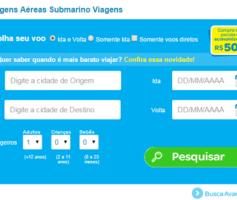 Passagens Aereas Submarino Viagens, Confira o Melhor Preço
