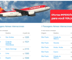 Promoções de Passagens Aereas Avianca – Vôos Internacionais Baratos